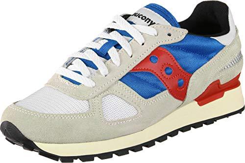 Saucony Herren Shadow Original Vintage Sneaker, Mehrfarbig (Gry/Blu/Red 8), 44 EU