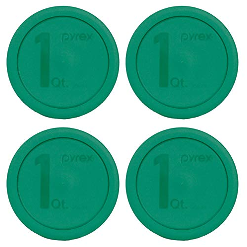 Pyrex 322-PC Green Mixing Bowl Lid - 4 Pack (Mixing Bowl Not Included) Will Not Fit The Pyrex 7201 4 Cup Dish