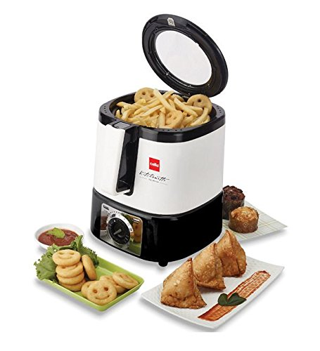 Cello Air-Chef-100 1250-Watt Deep Fryer (Black and White)