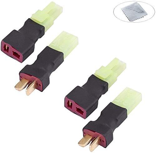 Boladge 2 Pares Adaptador de Conectores Macho y Hembra Enchufe Mini Tamiya 10CM 14AWG Cable de Silicona Airsoft