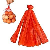 再利用可能なメッシュナイロンネット100個 ループスタイルクロージャー付き 20インチ 赤 再利用可能 ナイロンメッシュネット 食品 おもちゃ 果物 野菜 ストレージ ポリバッグ シーフードバッグ