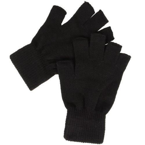 Guanti termici, senza dita, colore: nero