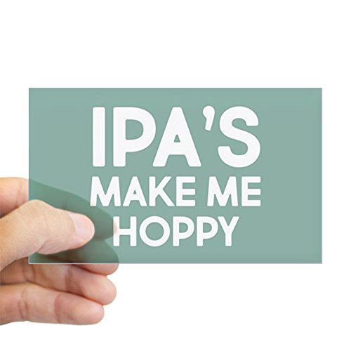 CafePress IPA's Make Me Hoppy Rectangle Bumper Sticker Car Decal