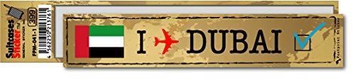FP-041-01 フットプリント ステッカー/ドバイ(DUBAI) スーツケースステッカー 機材ケースにも! (地図柄)