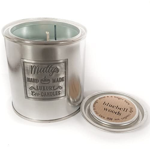 Matty's Candles Bluebell Woods Vela perfumada de coco y colza. Embalaje reciclable ecológico. Apto para veganos