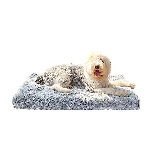 Plüsch Mittelgroße und Große Hundebett-Haustiermatte, Abnehmbare und Waschbare...
