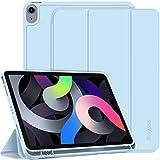 EasyAcc Funda Compatible con iPad Air 4 Generation/iPad 10.9 2020, Ultra Slim PU Protectora Carcasa con Función de Soporte Compatible con iPad Air 4 Generation/iPad 10.9 2020, Cielo Azul