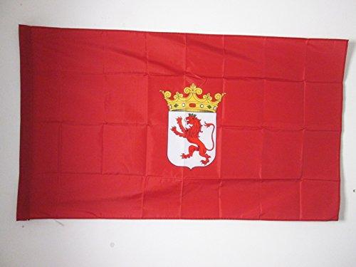 AZ FLAG Bandera de la Provincia DE LEÓN 90x60cm para Palo - Bandera LEÓN ENCastilla Y LEÓN 60 x 90 cm