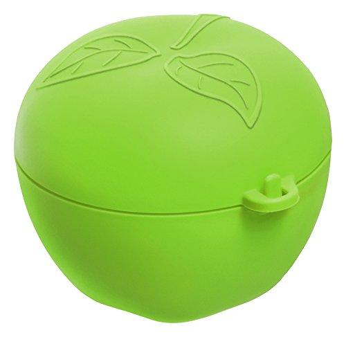 Rotho Fun Apfelbox, Kunststoff (BPA-frei), grün, 0.55 Liter (12,4 x 11 x 9,5 cm)