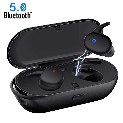 Wireless Earbuds,Upgraded Bluetooth 5.0 Bluetooth Earphones True Wireless Earbuds Stereo Hi-Fi Sound Wireless Headphones with Mic Charging Case Noise Reduction Compatible with iPhone Android