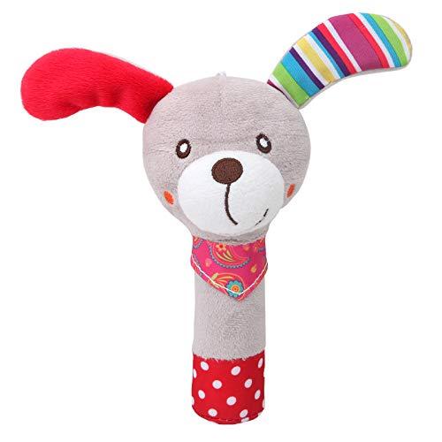 Sxmy Lindo bebé de dibujos animados animal cachorro búho conejo abeja mano balancín juguete bebé mano campana