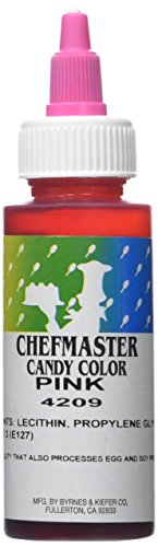 Chefmaster Liquid Candy Color, Pink, 2-Ounces