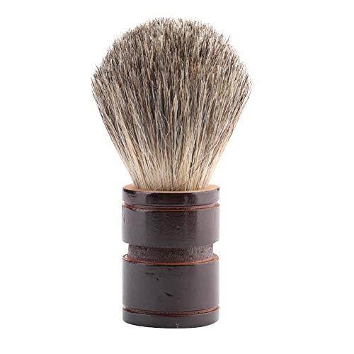 Brosse à raser, outil de salon de barbier de rasage de barbe de poils en bois de poignée de cheveux synthétiques doux(#2)