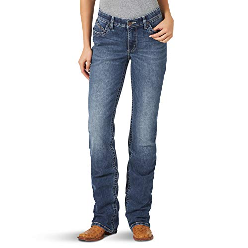 Wrangler Damen Willow Mid Rise Boot Cut Ultimate Riding Jeans, Bessie, 0W x 36L