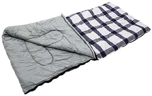 Quest Blue and grey cheque square sleeping bag 52oz