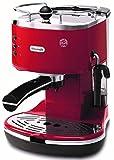 De'Longhi ECO-301.R Cafetera Tipo Barista Acero, color Rojo