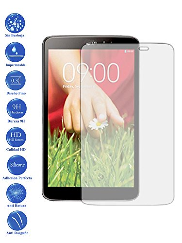 Todotumovil Protector de Pantalla LG G Pad 8.3 V500 de Cristal Templado Vidrio 9H para Tablet