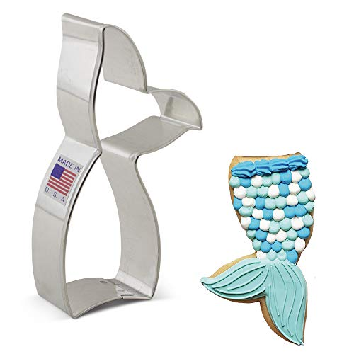 Ann Clark Cookie Cutters Mermaid and Whale Tail Cookie Cutter, 4.25'