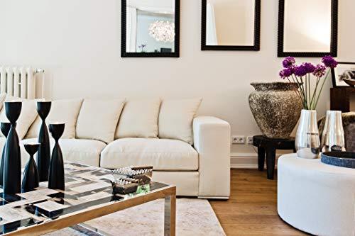Amaris Elements | 'Cooper' 3 Sitzer Samt Sofa, Länge 2.26m inklusive 5 Kissen beige Creme l 3er Couch Landhausstil Sitzgarnitur