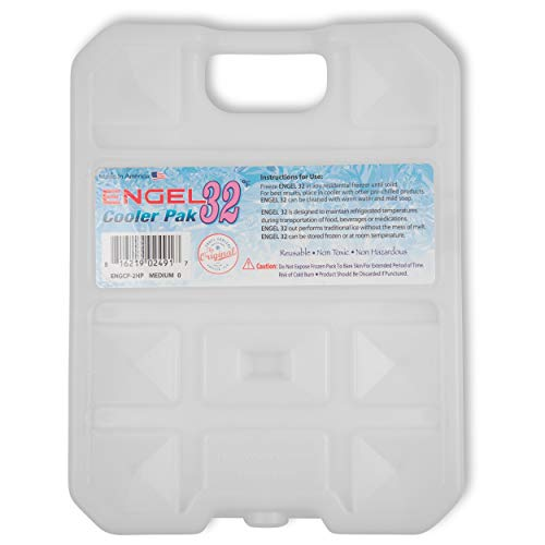Engel Coolers 32F 2HP Degree Hard Shell Cooler Pack, 2 Lb, White, Small