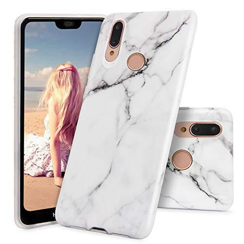 Imikoko Hülle für Huawei P20 Lite Marmor Matt Dünn Weich Silikon Flexible Handyhülle Schutzhülle Marble Malerei Schlank TPU Bumper Handytasche Zurück Soft Back Cover Gummi für Huawei P20 Lite