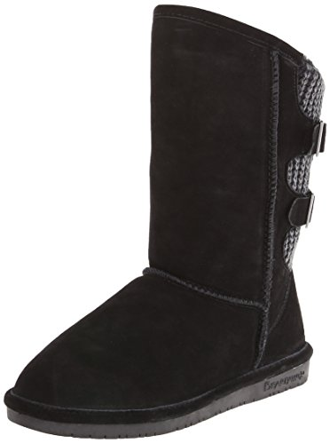 BEARPAW Women's Boshie Winter Boot, Black, 10 M US