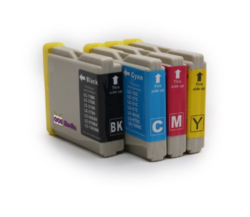 4er Set - Druckerpatronen kompatibel zu BROTHER LC1000 | 1x schwarz cyan magenta gelb | geeignet für Brother Drucker der MFC / DCP & Fax Serie