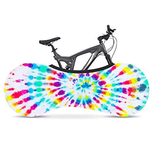 SFGSA Funda para bicicleta, antipolvo, bolsa de almacenamiento para bicicleta interior, lavable, elástica, a prueba de arañazos, paquete de neumáticos de protección para bicicleta MTB, estilo 8