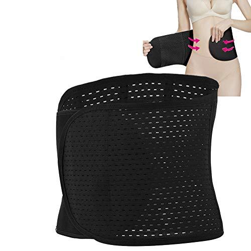Cinturón de vientre posparto, Fajas Reductoras Corset para Mujer Cinturon despues de Embarazo recuperación Abdominal Lumbar Apoyo corses(negro)