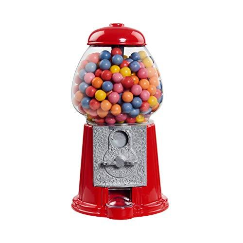 Butlers Big Spender Kaugummi-Automat H?he 28,5 cm in Rot - Retro Kaugummi Spender - Chewing Gum Automat unbef?llt