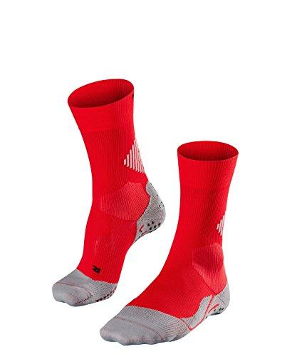 FALKE Unisex 4 Grip Socken, Stabilizing Sportsocke - Funktionsfaser, mit Kompressionszone zur Stabilisierung des Knöchels, 1er Pack, Rot (Scarlet 8070), Größe: 44-45