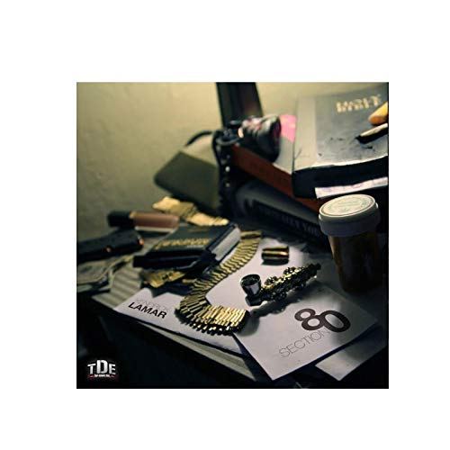 Kendrick Lamar Section 80 Music Album Cover Posters Print on Canvas Wall Art Home Decor Print on Canvas 50x50cm Frameless