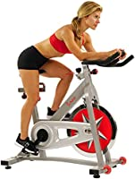 Sunny Health & Fitness Unisex Adult SF-B901 Pro Indoor Cycling Bike - Silver, One Size