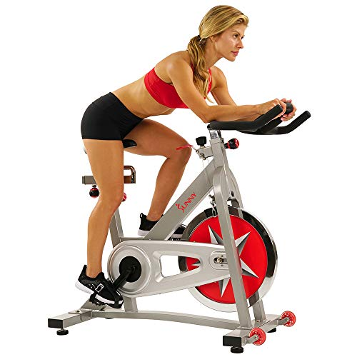 Sunny Health & Fitness Spin Bike Workout Machine Stationary...