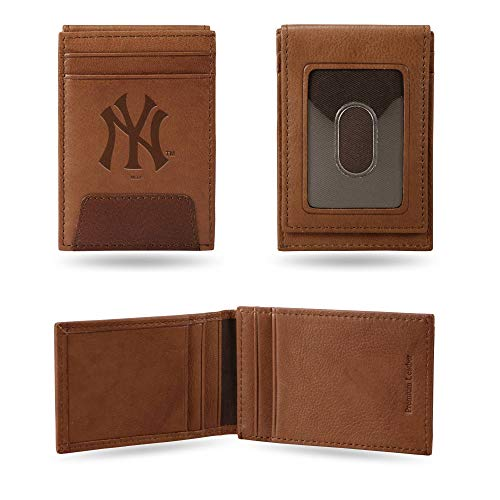 Rico Industries Yankees Premium Leather Front Pocket Wallet