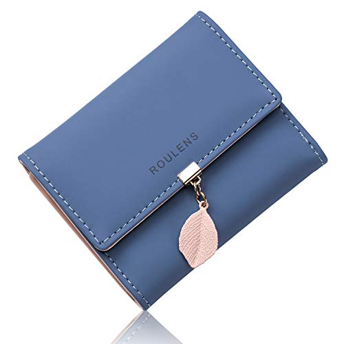 Roulens PU Leather Wallet for Women RFID-Blocking, Ladies Bifold Leaf...