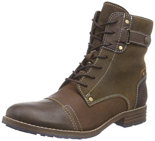 Mustang Damen Schnür-Booty Biker Boots, Braun (3 braun), 42 EU