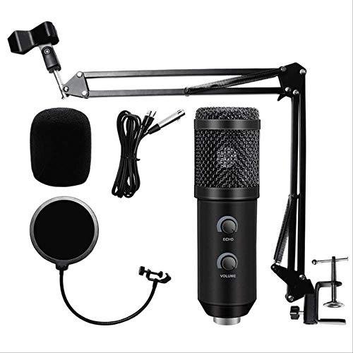 RRYM Micrófonos Micrófono Usb Actualizado Para Micrófono Karaoke Usb Con Trípode De Pie Y Filtro Pop6