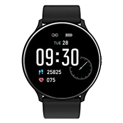 ♥【Fitness Smart Watch】It is a combination of fitness tracker and smart watch. Support multiple sports modes, such as running, cycling, walking, fitness, swinging. Accurately record all-day activities, such as steps, distance, calories burned, miles w...