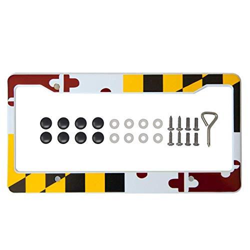 International Tie Maryland Flag License Plate Frame