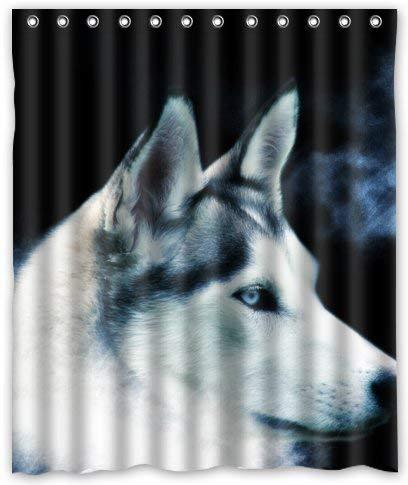 remmber me Mutig & schnell Wolf weißer Rauch duschvorhang wasserdicht Badezimmer dekor Polyester Stoff Vorhang Sets mit Haken 60x72 Zoll