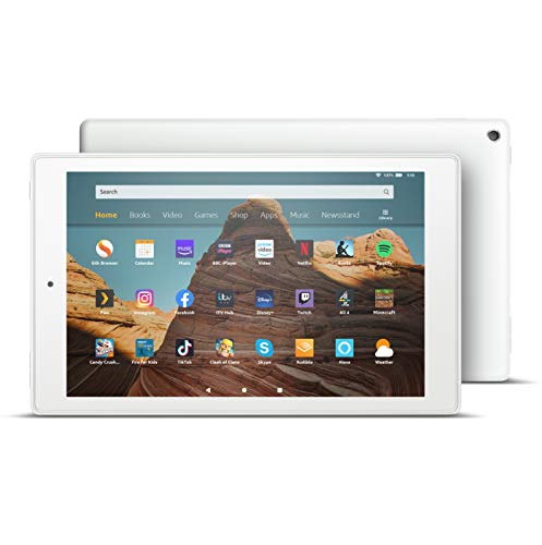 Fire HD 10 Tablet | 10.1' 1080p Full HD display, 64 GB, White - with Ads