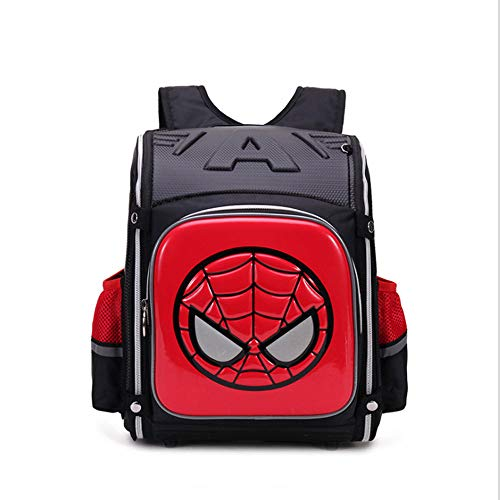 ZHAOYONGBING Children Backpack,cartoon, student backpack, personalized, waterproof, breathable, wear-resistant, anti-theft, anti-burden, shockproof, children s backpack. Spider-Man Red B