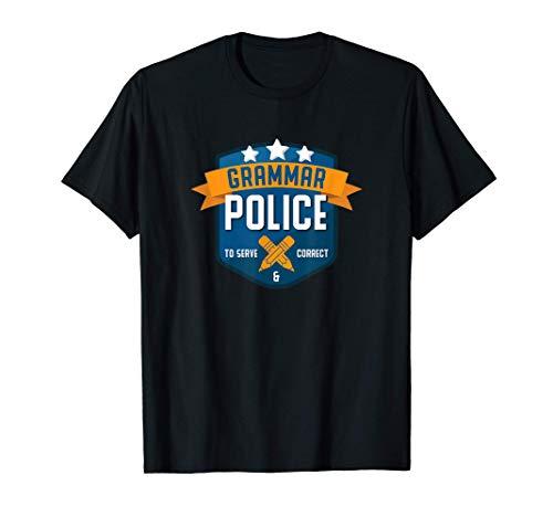 Gramática Policía Regalo divertido Profesor de inglés Camiseta