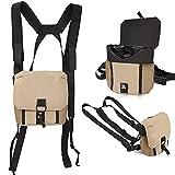 Arnés para prismáticos, conjunto de arnés de pecho cómodo, ligero y duradero para caza, viajes y observación de aves.