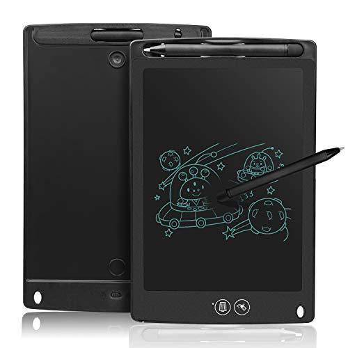 """NEWYES 8,5"""" Tableta de Escritura LCD con borrado Parcial, Tableta Grafica para Dibujar o Escribir. Pizarra LCD (Negro)"""