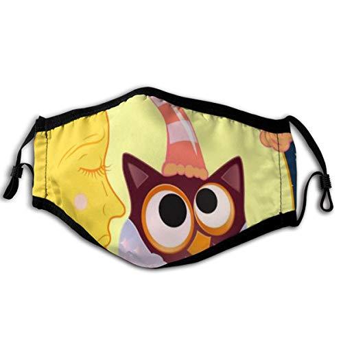 """ocaohuahuaba Decken Sie eine süße Cartoon-Eule mit Auge 6\""""X9 Zoll Gesichtsschutz Anti Dust Unisex Cotton Cover"""