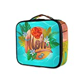 LUPINZ - Neceser de maquillaje hawaiano Aloha Clutch bolsa de maquillaje organizador de viaje