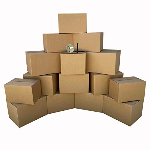 uBoxes 1 Room Economy Moving Kit, 15 Boxes, Moving and Packing Supplies (ECOBASICKT01)