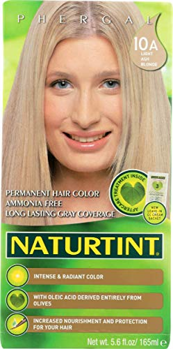 Natural Tint Permanent Hair Color 10A Light Ash Blonde, 5.28fl oz (Pack of 6) by Nature Tint